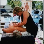 Deb working on Professor Wheat 1997